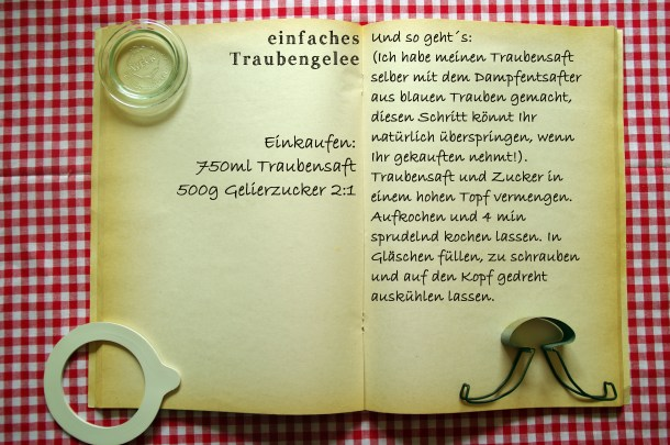 Einkaufszettel Traubengelee by Glasgeflüster