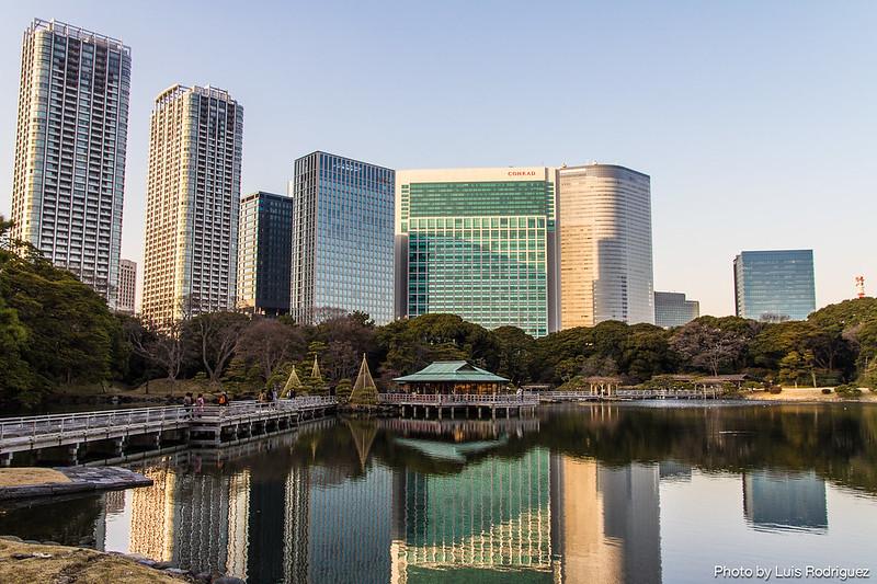 Jardines Hama-Rikyu en pleno centro de Tokio