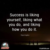 Day 2 of Inspirational Quotes: I just posted on facebook about how I've finally come to a point in my life where I like myself, I'm happy with what I am doing, and I love how I am doing it. I guess this is success. It feels like success. #FiJaPAW #100days.