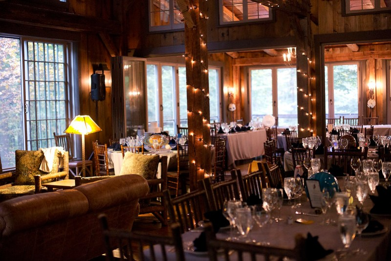 Reception at the lodge