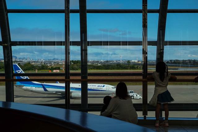 飛行機を眺めて