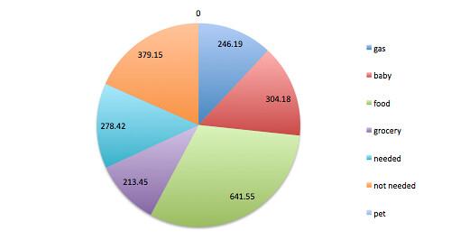 September Budget Pie Chart // mybelovednewo.com