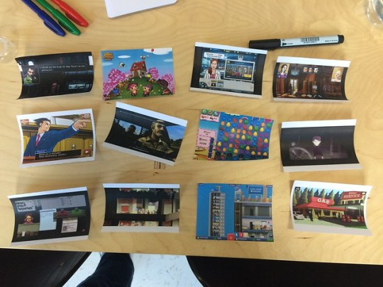Reference images for a game design workshop