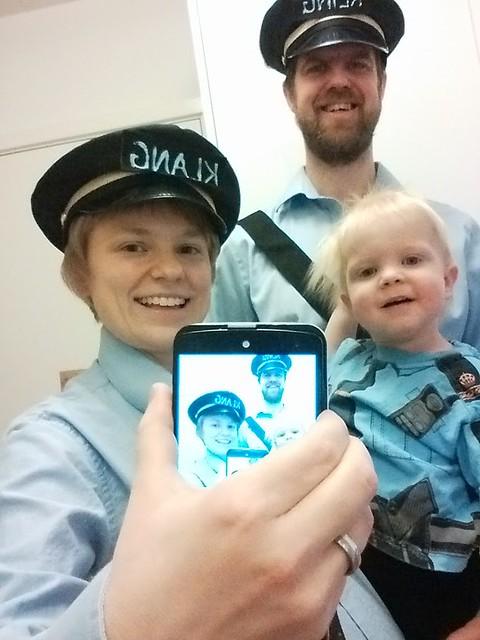 Det behövdes tre poliser för att upprätthålla ordningen på barnkalaset