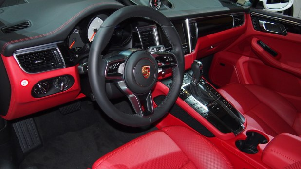 Porsche Macan White Red Interior