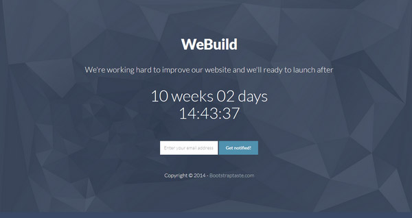 Counter – Coming Soon Page Bootstrap