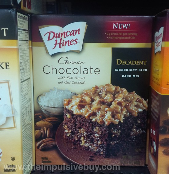 Duncan Hines Decadent German Chocolate Cake Mix