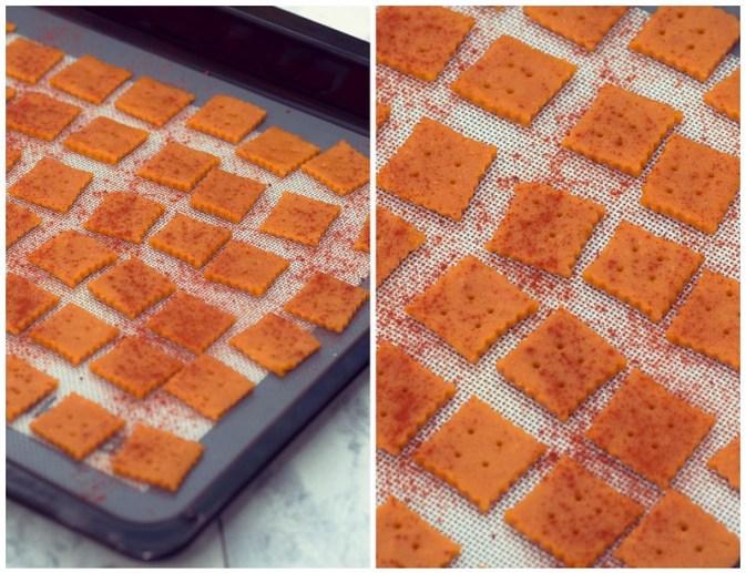 Galletas con pimentón y queso
