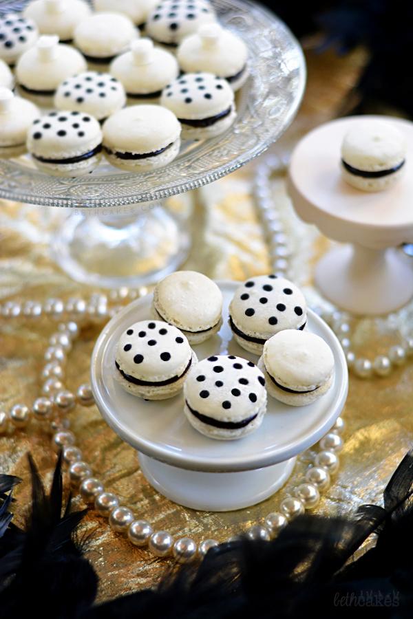 Vanilla Dark Chocolate Macarons bethcakes.com