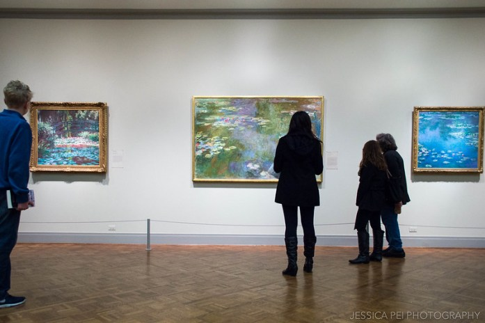 Claude Monet Water Lilies Paintings in Art Institute of Chicago
