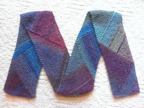 Knit Multi Directional Diagonal Scarf