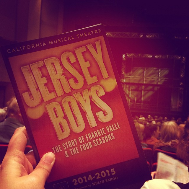And to conclude the evening... Jersey Boys! Compliments of my client, California Musical Theatre! #sacmusicals #calmt #anniversary