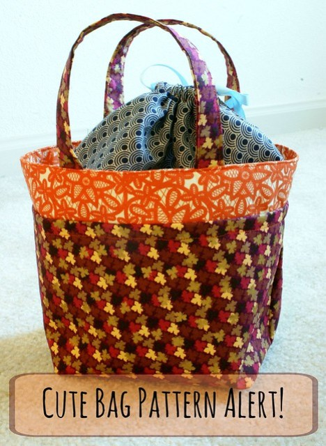 Cute Bag Pattern Alert with text