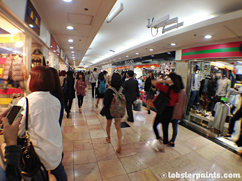 26 Sep 2014: Daehyeon Underground Shopping at Seomyeon Station   Busan, South Korea