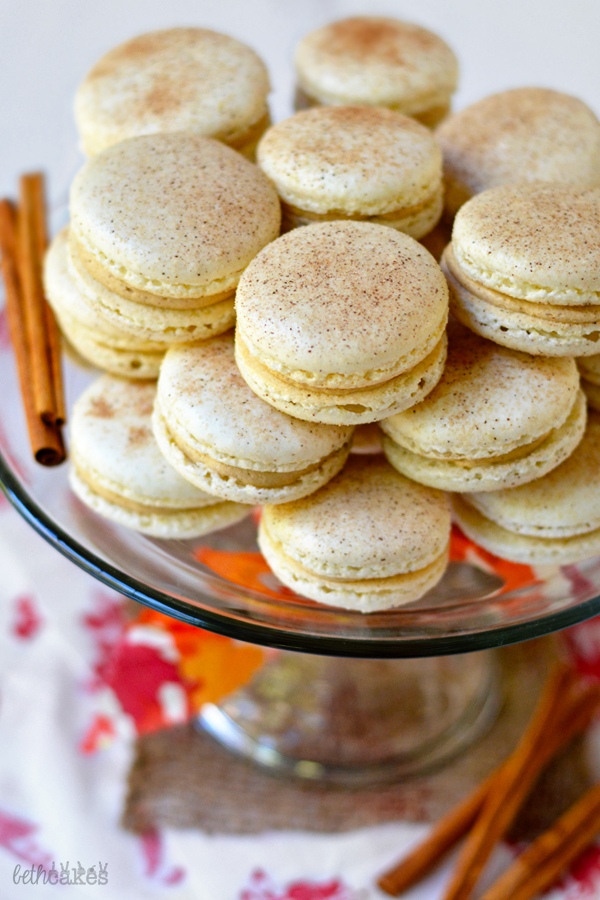 Snickerdoodle Macarons! bethcakes.com