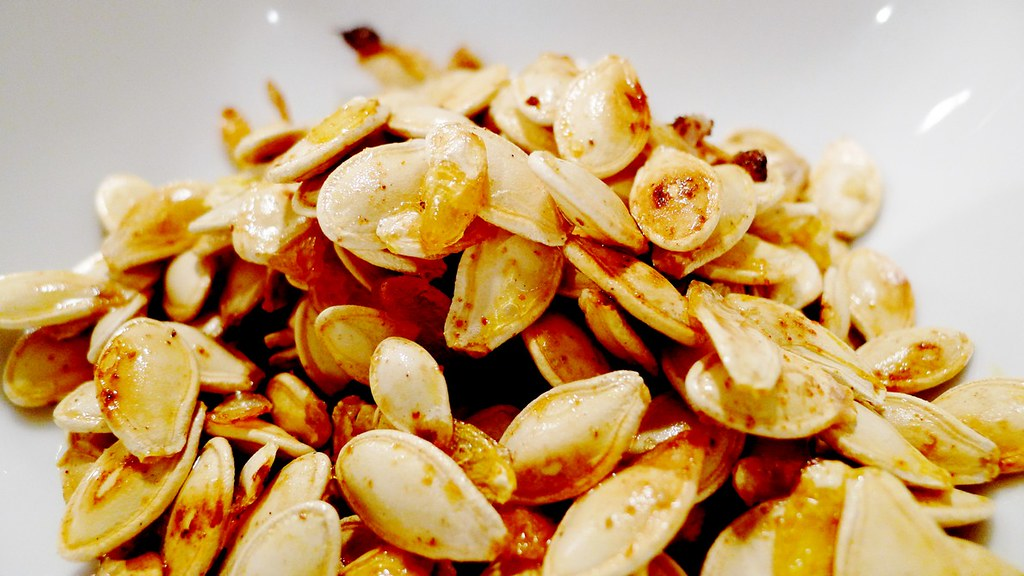Roasted Pumpkin Seeds Recipe Instanomss nomss.com