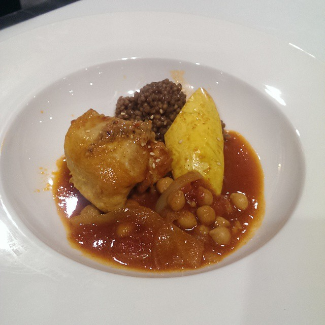 Next up, a Moroccan chicken stew from Georgian College from the cookbook Mindful #DFS14 #tcstudents @tasteCanada