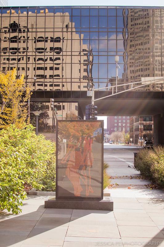 Walking Statues in Citygarden St. Louis