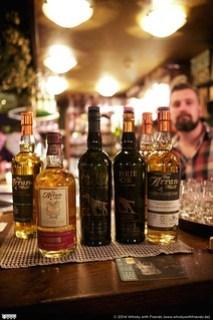 Arran Whisky Tasting line-up
