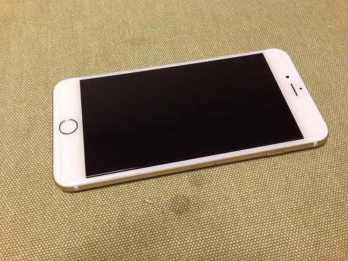 クリスタルアーマー® プレミアム強化ガラス for iPhone 6 Plus (0.15mm ゴリラガラス)_貼り付け後