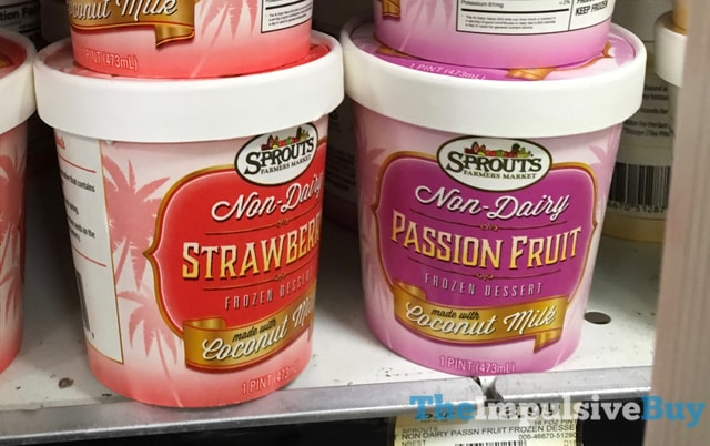Sprouts Non-Dairy Frozen Dessert Made with Coconut Milk (Strawberry and Passion Fruit)