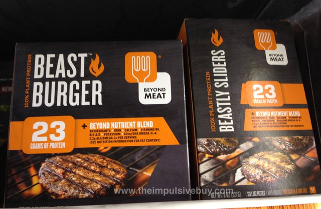 Beyond Meat Beast Burger and Beastly Sliders