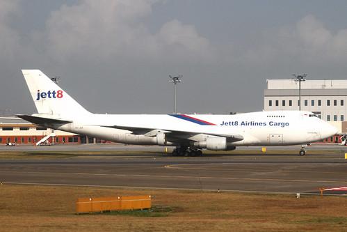 Jett8 Airlines Cargo B747-200F(9V-JEB)