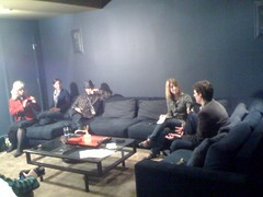 Here's @acoolong with @glxp on the corner of the couch green room before the @techzulu interview #sxsw