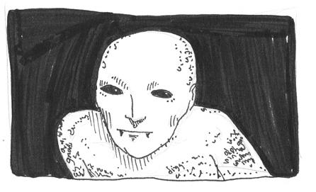 Vampiric thumbnail sketch - discard
