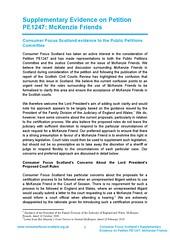 Consumer Focus Scotland Supplementary Evidence Petition 1247 McKenzie Friends 03