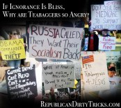 If ignorance Is Bliss Why are Teabaggers so Angry Image