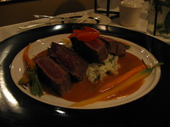 Grilled Peppered Loin of Australian Lamb