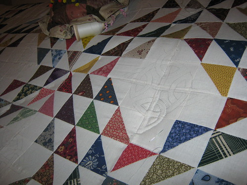 Closeup of Celtic Knot pattern...