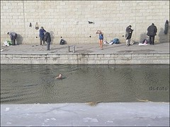 Beijing - winter swimmer