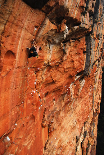 """Me on """"The Invisable Fist"""" 26 Taipan Wall, Grampians"""