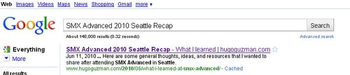title tag example serps
