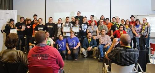 Ganadores y finalistas de los premios de las V Jornadas de Podcasting