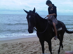 Sara on a horse