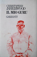 Christopher Isherwood, Il mio guru, Garzanti 1989, alla copertina: Christopher Isherwood in un disegno di Don Bachardy, (part.), 1