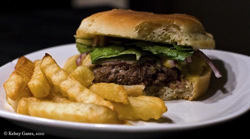 hamburger, burger, fries, french fries, burger and fries, organic ground beef, gluten free