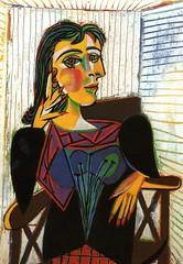 Pablo Picasso, Retrato de Dora Maar Sentada (1937)