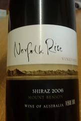 Norfolk Rise Shiraz 2006 (Mount Benson, Australia)