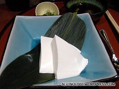 Very plain looking, but delicious tofu