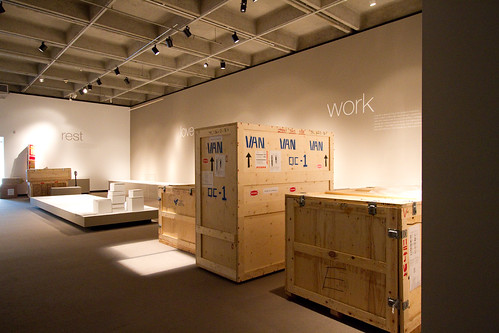 Exhibit closed, objects crated.