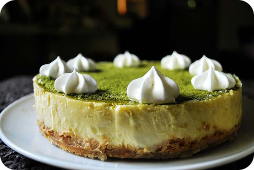 Green Tea & White Chocolate Cheesecake II