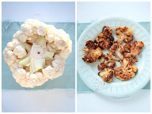 Whole Head of Cauliflower Diptych