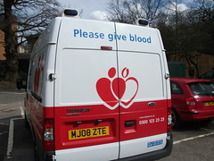 MJ08ZTE National Blood Service Ford Transit 11...