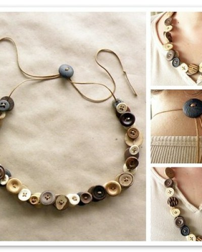 Monday Mini Project: Adjustable Button Necklace–Last Minute Gift Idea