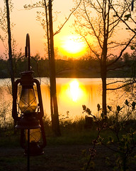 Lanterns at Sunset