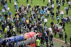 Soccer fans football riot